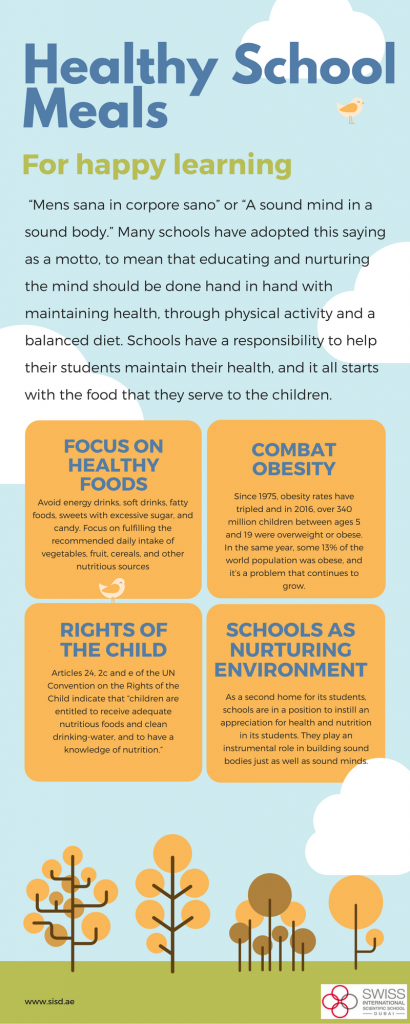 The importance of good health in school meals | SISD